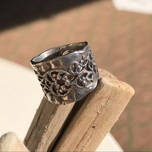 Or Paz Hammered Silver Lace Ring